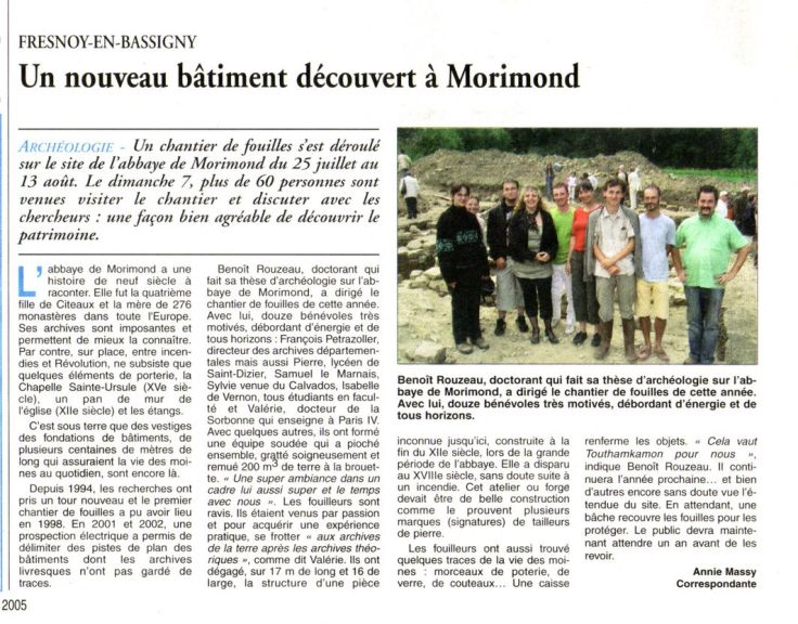article Morimond La Croix