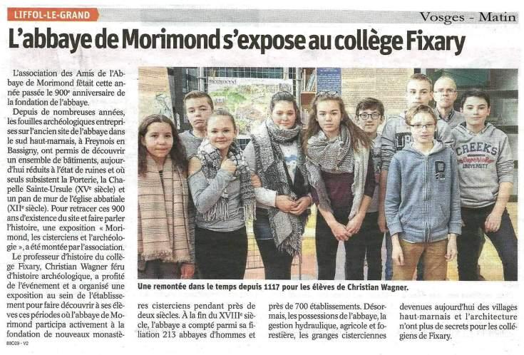 Vosges-Matin expo morimond